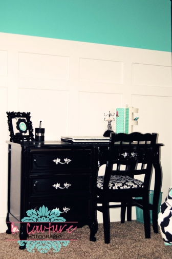 1106 AVERIES BEDROOM 004 TURQUOISE AND BLACK GIRLS BEDROOM {WEDNESDAY DESIGN INSPIRATION}