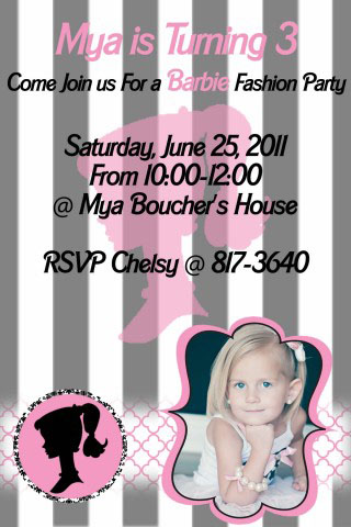 This is the fun little party invitation that i made of course we had