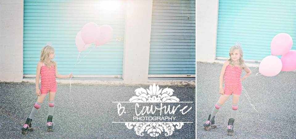 BRYN BALOONS Diptych 3 RETRO ROLLER BEAUTY! {UTAH CHILD PHOTOGRAPHER}