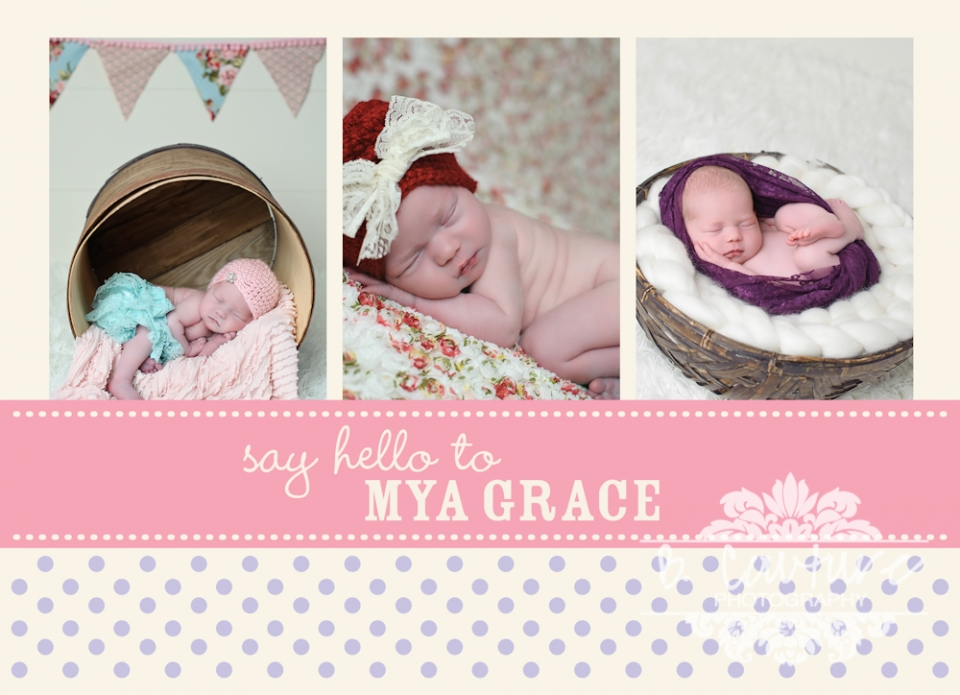 MYA ANNOUNCEMENT front 2 MYA GRACE {7 DAYS NEW} | ST GEORGE, HURRICANE, CEDAR CITY UTAH NEWBORN PHOTOGRAPHER