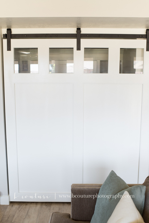 Custom White Barn Door And Desk B Couture Photography